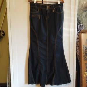 Bisou Bisou mermaid tail long denim skirt 8